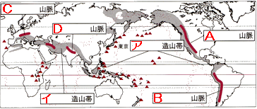 ... の山、日本の山を覚えよう ☆ : 日本地図 山地 山脈 : 日本